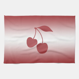 Cherry red to white gradient kitchen towel