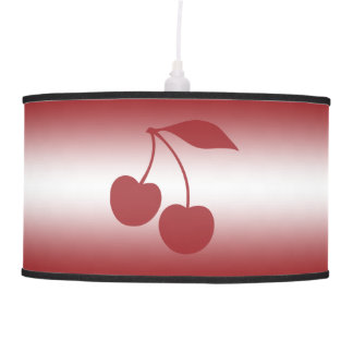 Cherry red to white gradient pendant lamp