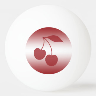 Cherry red to white gradient ping pong ball