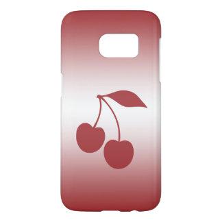 Cherry red to white gradient samsung galaxy s7 case