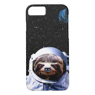 Cherry Sloth Astronaut Hipster Space iPhone 7 Case