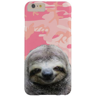 Cherry-Sloth-Funny-Animal-Cute-Smiling-Sloth-Pink Barely There iPhone 6 Plus Case