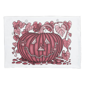 Cherry Spidery Pumpkin Pillowcase