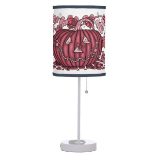 Cherry Spidery Pumpkin Table Lamp