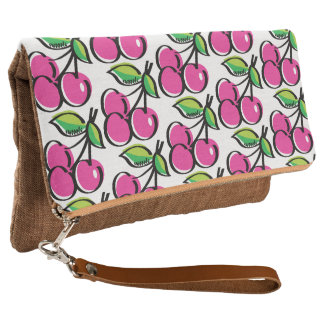 Cherry Swoozle Cinnamon Fold-Over Clutch