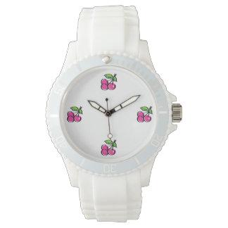 Cherry Swoozle Women's Sporty White Silicon Watch