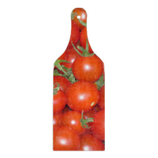Cherry Tomato Harvest Glass Cutting Board