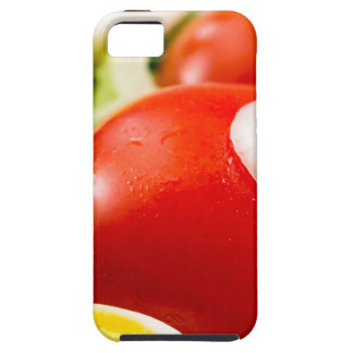 Cherry tomatoes and boiled eggs in a salad case for the iPhone 5