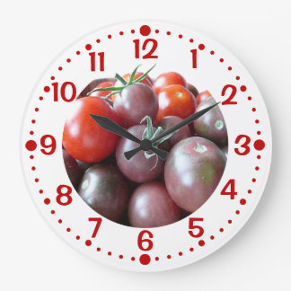 Cherry Tomatoes Custom Kitchen Clock with Minutes