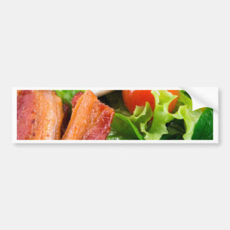 Cherry tomatoes, herbs, olive oil, eggs and bacon bumper sticker