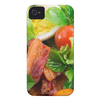 Cherry tomatoes, herbs, olive oil, eggs and bacon iPhone 4 cover