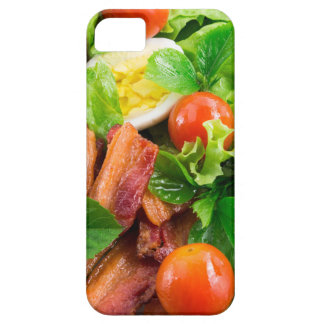 Cherry tomatoes, herbs, olive oil, eggs and bacon iPhone 5 case