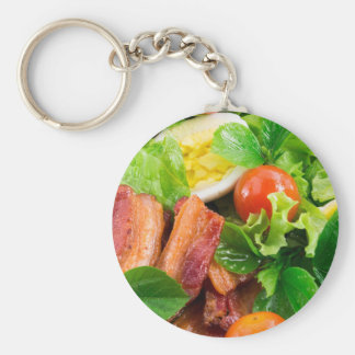Cherry tomatoes, herbs, olive oil, eggs and bacon keychain