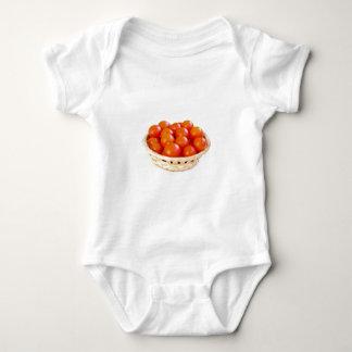 Cherry tomatoes in basket baby bodysuit