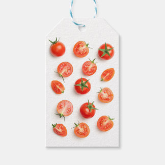 Cherry Tomatoes Isolated on White Background Gift Tags
