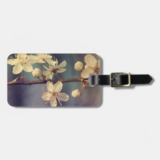 Cherry tree blossoms luggage tag