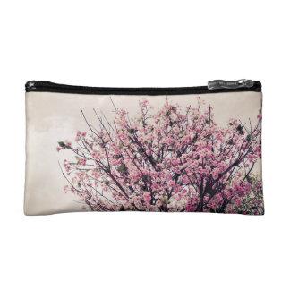Cherry tree cosmetic bag