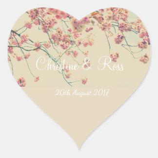 Cherry tree Floral Heart Wedding Sticker