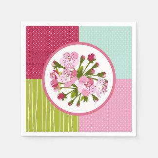 Cherry Tree Flowers Disposable Napkins