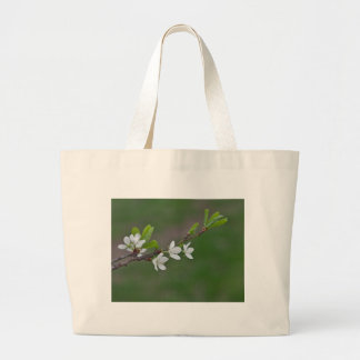 Cherry tree flowers large tote bag