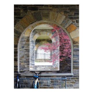 Cherry Tree Through The Arches Customized Letterhead