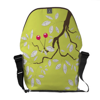 Cherry Tree Vector Graphic Abstract Art Courier Bags