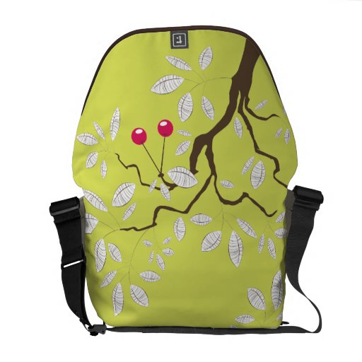 Cherry Tree Vector Graphic Abstract Art Commuter Bags