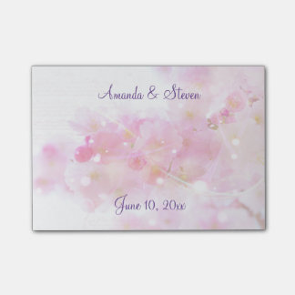 Cherry Tree with Pastel Pink Blossoms Wedding Post-it Notes