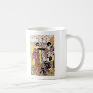 Cherry Viewing at Gotenyama by Kitagawa Utamaro Coffee Mug