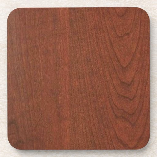 CHERRY WOOD finish BUY blank blanche add TEXT IMG Drink Coaster