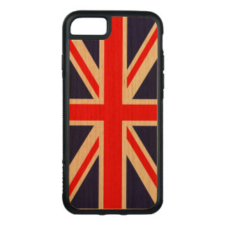 Cherry Wood iPhone 7 case with Union Jack Flag