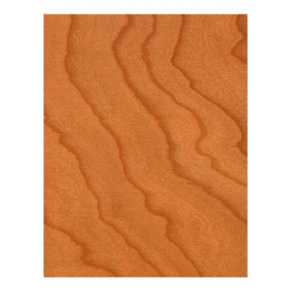 Cherry Wood Look Fine Grain Letterhead Template