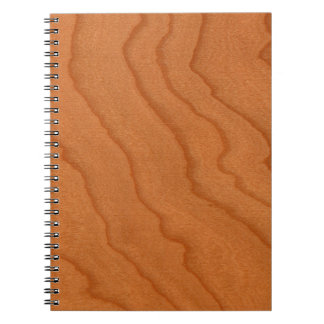 Cherry Wood Look Fine Grain Spiral Note Book