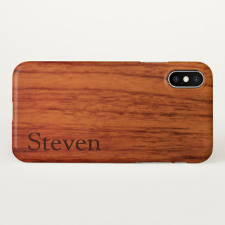 Cherry Wood Name Template iPhone X Case