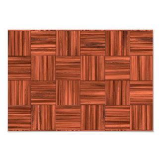 Cherry Wood Parquet Floor Pattern Card