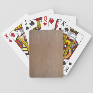 Cherry Wood Print, Playing Cards