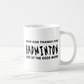 Chers mercis de Dieu de badminton Mug À Café