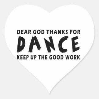 Chers mercis de Dieu de danse Sticker Cœur