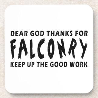 Chers mercis de Dieu de fauconnerie Dessous-de-verre