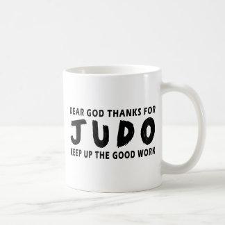 Chers mercis de Dieu de judo Tasse À Café
