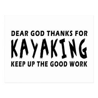 Chers mercis de Dieu de Kayaking Cartes Postales
