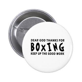 Chers mercis de Dieu de la boxe Badge Avec Épingle