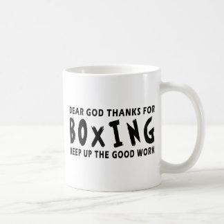Chers mercis de Dieu de la boxe Tasse À Café