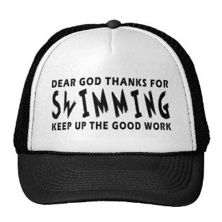Chers mercis de Dieu de la natation Casquettes De Camionneur
