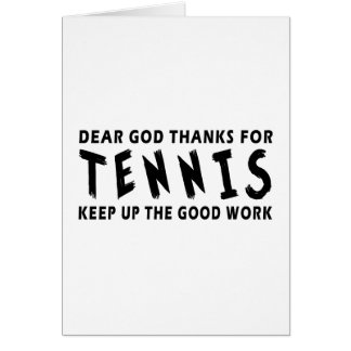 Chers mercis de Dieu de tennis Carte De Vœux