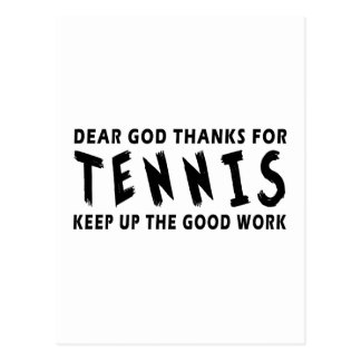 Chers mercis de Dieu de tennis Cartes Postales