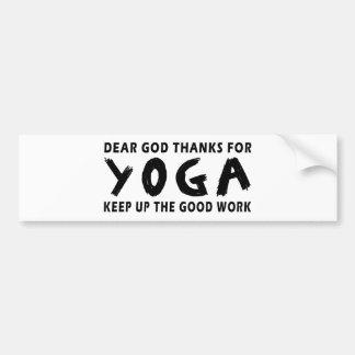 Chers mercis de Dieu de yoga Autocollant De Voiture