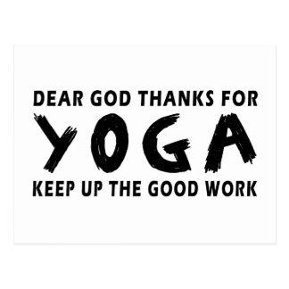 Chers mercis de Dieu de yoga Cartes Postales