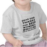 Chers mercis de Dieu des femmes et de la lutte de  T-shirts