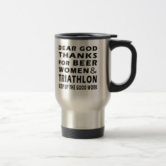 Chers mercis de Dieu des femmes et de triathlon de Tasse À Café